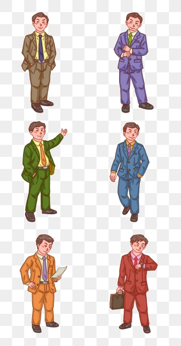 pngtree-suit-business-person-character-series-image free download 170