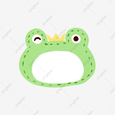 Frog Prince Cute Bubble Dialog pngtree free download