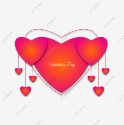 Stylish And Beautiful Heart Shape Valentine S Day Transparent Png Background pngtree free download